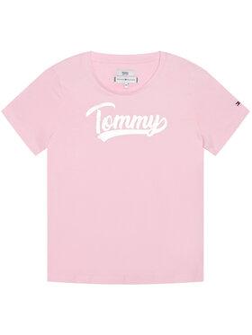 TOMMY HILFIGER TOMMY HILFIGER Tričko Foil Tee KG0KG05545 Ružová Regular Fit