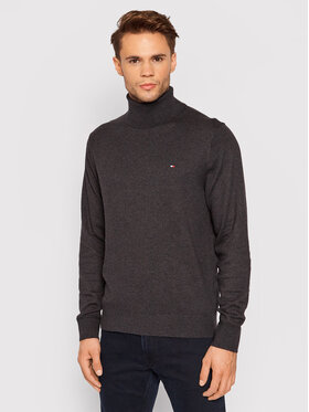 Tommy Hilfiger Tommy Hilfiger Pull à col roulé MW0MW15444 Gris Relaxed Fit