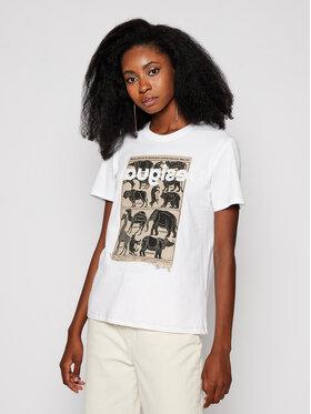 Desigual Desigual Marškinėliai African 20WWTK23 Balta Regular Fit