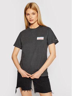 Tommy Jeans Tommy Jeans Marškinėliai Miami Back Print DW0DW09816 Pilka Relaxed Fit