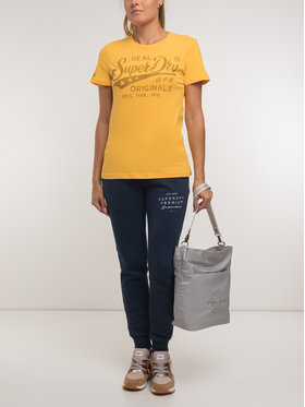 Superdry Superdry T-Shirt W1000021B Żółty Regular Fit