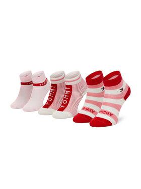 Tommy Hilfiger Tommy Hilfiger Set di 3 paia di calzini corti da bambini 100002326 Rosa