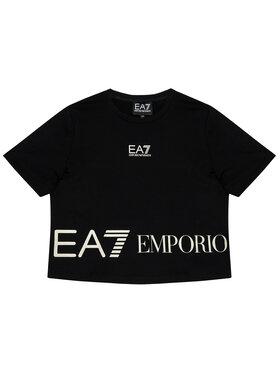 EA7 Emporio Armani EA7 Emporio Armani Marškinėliai 3KFT52 FJ7CZ 1200 Juoda Regular Fit