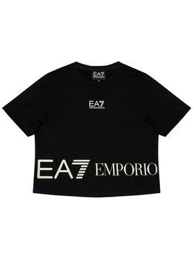 EA7 Emporio Armani EA7 Emporio Armani T-shirt 3KFT52 FJ7CZ 1200 Crna Regular Fit