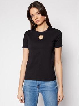 Elisabetta Franchi Elisabetta Franchi T-Shirt MA-25N-11E2-V130 Černá Straight Fit