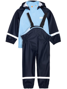 Helly Hansen Helly Hansen Komplet kurtka przeciwdeszczowa i spodnie Bergen 40360 Granatowy Regular Fit