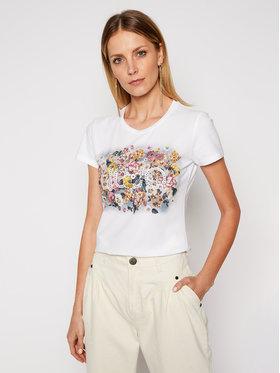 Liu Jo Liu Jo Marškinėliai WA1569 J0250 Balta Slim Fit