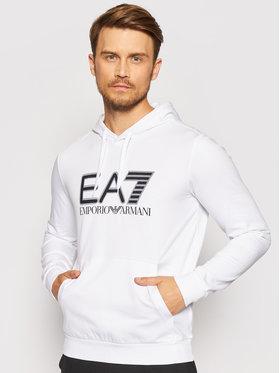 EA7 Emporio Armani EA7 Emporio Armani Суитшърт 6KPM62 PJ05Z 1100 Бял Regular Fit