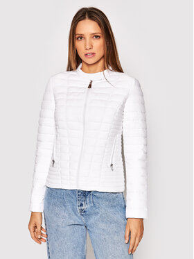Guess Guess Пухено яке Vona W0BL1I W6NW0 Бял Slim Fit