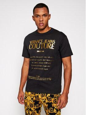 Versace Jeans Couture Versace Jeans Couture Тишърт B3GWA7VT Черен Regular Fit