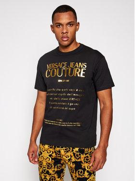 Versace Jeans Couture Versace Jeans Couture Tricou B3GWA7VT Negru Regular Fit