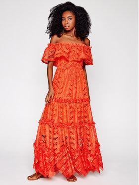 IXIAH IXIAH Φόρεμα καλοκαιρινό IX22-80498 Πορτοκαλί Regular Fit