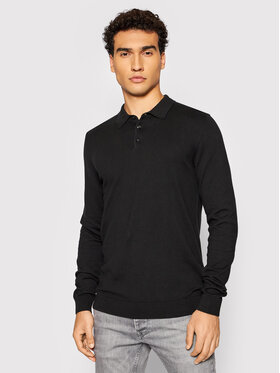 Selected Homme Selected Homme Tricou polo Berg 16081320 Negru Regular Fit