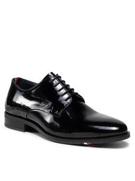 Tommy Hilfiger Tommy Hilfiger Półbuty Rwb Hilfiger Patent Leather Shoe FM0FM03921 Czarny