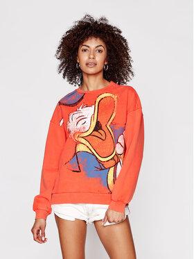 Desigual Desigual Džemperis DISNEY Donald 21SWSK32 Oranžinė Regular Fit