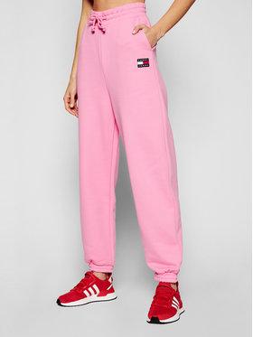 Tommy Jeans Tommy Jeans Teplákové kalhoty DW0DW09740 Růžová Relaxed Fit