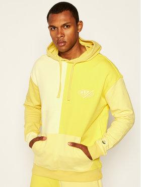 Guess Guess Sweatshirt J BALVIN Color Block M0FQ68 RA1B0 Jaune Regular Fit
