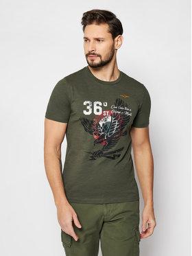 Aeronautica Militare Aeronautica Militare Marškinėliai 211TS1862J512 Žalia Regular Fit
