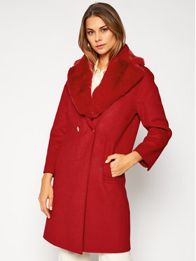 Liu Jo Liu Jo Manteau en laine CF0178 T4592 Rouge Regular Fit