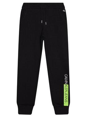 Calvin Klein Jeans Calvin Klein Jeans Melegítő alsó Institutional Block IB0IB00516 Fekete Regular Fit