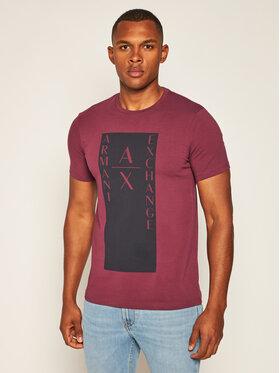Armani Exchange Armani Exchange T-shirt 6HZTAM ZJLDZ 1306 Bordeaux Slim Fit