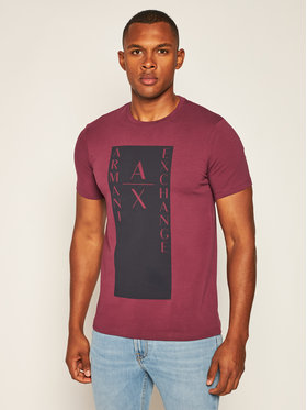 Armani Exchange Armani Exchange T-Shirt 6HZTAM ZJLDZ 1306 Dunkelrot Slim Fit