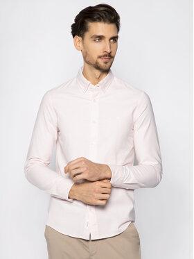 Calvin Klein Calvin Klein Ing Stretch Oxford Shirt K10K105280 Rózsaszín Slim Fit
