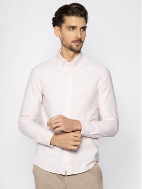 Calvin Klein Calvin Klein Риза Stretch Oxford Shirt K10K105280 Розов Slim Fit