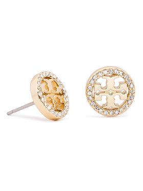 Tory Burch Tory Burch Náušnice Crystal Logo Circle Stud Earring 53422 Zlatá