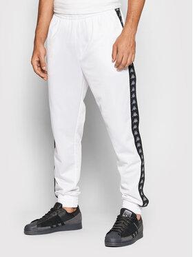 Kappa Kappa Pantaloni da tuta Jelge 310013 Bianco Regular Fit
