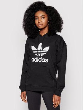 adidas adidas Bluză adicolor Trefoil FM3307 Negru Regular Fit
