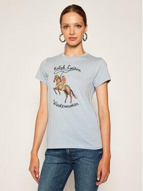 Polo Ralph Lauren Polo Ralph Lauren T-Shirt Ssl 211800354001 Niebieski Regular Fit