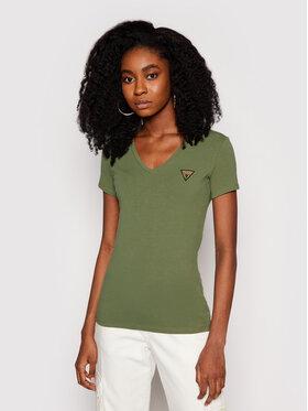 Guess Guess T-Shirt Mini Triangle W1GI17 J1311 Zelená Slim Fit