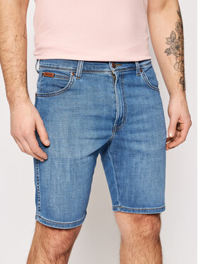 Wrangler Wrangler Szorty jeansowe Texas W11CQ187W Niebieski Slim Fit