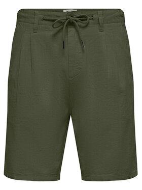 Only & Sons ONLY & SONS Pantalon scurți din material Leo 22019201 Verde Regular Fit