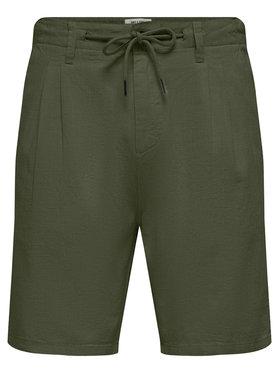 Only & Sons ONLY & SONS Шорти от плат Leo 22019201 Зелен Regular Fit