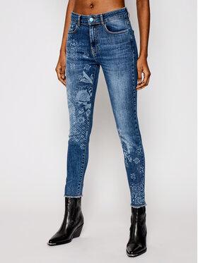 Desigual Desigual Prigludę (Slim Fit) džinsai Miami Super Print 21SWDD27 Tamsiai mėlyna Slim Fit