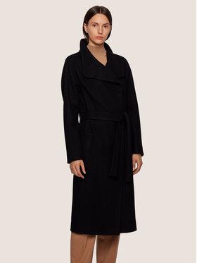 Boss Boss Gyapjú kabát Cedani 50395591 Fekete Regular Fit