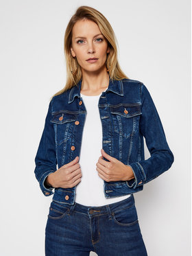 Guess Guess Kurtka jeansowa Delya W1RN01 D4663 Granatowy Regular Fit