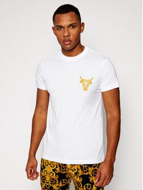 Versace Jeans Couture Versace Jeans Couture Marškinėliai B3GWA7TH Balta Slim Fit