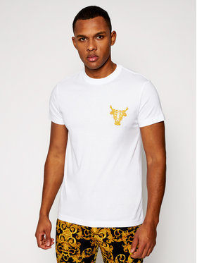 Versace Jeans Couture Versace Jeans Couture T-Shirt B3GWA7TH Biały Slim Fit