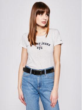 Tommy Jeans Tommy Jeans Póló Essential DW0DW07161 Szürke Slim Fit