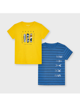 Mayoral Mayoral Komplet 2 t-shirtów 3045 Kolorowy Regular Fit