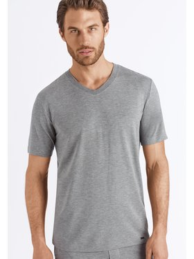 Hanro Hanro T-Shirt Casuals 5035 Szary Regular Fit