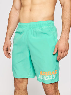 adidas adidas Pantaloni scurți pentru înot Classic-Length GM2259 Verde Regular Fit
