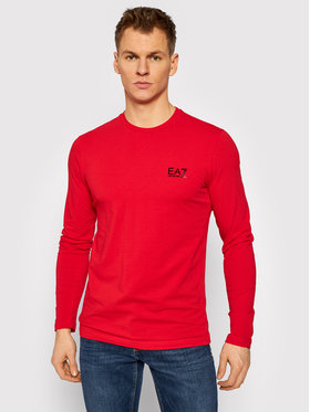 EA7 Emporio Armani EA7 Emporio Armani Marškinėliai ilgomis rankovėmis 8NPT55 PJM5Z 1451 Raudona Regular Fit