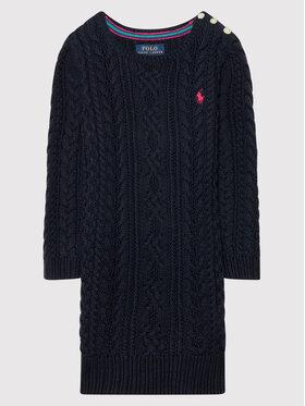 Polo Ralph Lauren Polo Ralph Lauren Každodenní šaty Aran 311850504002 Tmavomodrá Regular Fit