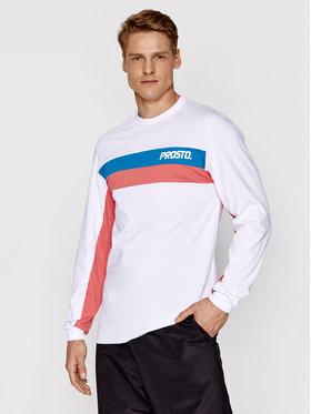 PROSTO. PROSTO. Marškinėliai ilgomis rankovėmis KLASYK Yama 2062 Balta Regular Fit