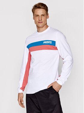 PROSTO. PROSTO. Тениска с дълъг ръкав KLASYK Yama 2062 Бял Regular Fit