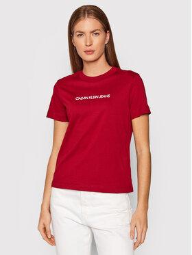 Calvin Klein Jeans Calvin Klein Jeans T-Shirt J20J216251 Dunkelrot Regular Fit